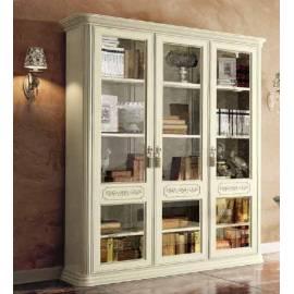 Библиотека 3 дв. Torriani Avorio Camelgroup, двери стекло, полки стекло