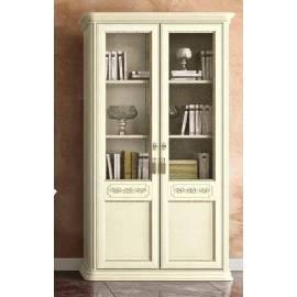 Библиотека 2 дв. Torriani Avorio Camelgroup, двери дерево, полки стекло