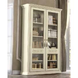 Библиотека 2 дв. Torriani Avorio Camelgroup, двери стекло, полки стекло