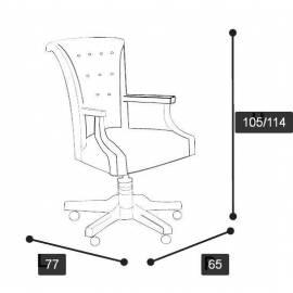Кресло рабочее Torriani Avorio Camelgroup, высокое