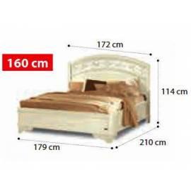 Кровать Torriani Noce Camelgroup, 160 см без изножья