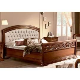Кровать Torriani Noce Camelgroup, 180 см с изножьем и обивкой