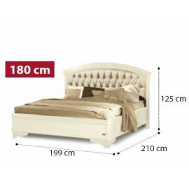 Кровать Torriani Avorio Camelgroup, 180 см без изножья с обивкой