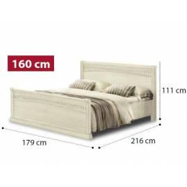 Кровать Tiziano Torriani Avorio Camelgroup, 160 см с изножьем
