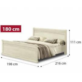 Кровать Tiziano Torriani Avorio Camelgroup, 180 см с изножьем