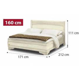 Кровать Tiziano Torriani Avorio Camelgroup, 160 см без изножья