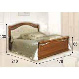 Кровать Siena Camelgroup, 160 см, обивка кожа с изножьем