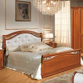 Кровать Siena Camelgroup, 180 см, обивка кожа с изножьем