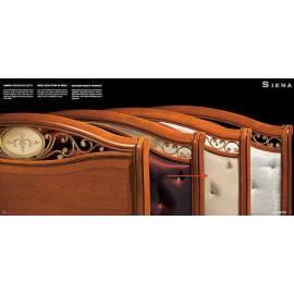 Кровать Siena Camelgroup, 160 см, обивка кожа без изножья