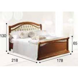Кровать Siena Capitonné Camelgroup, 160 см, обивка кожа с изножьем