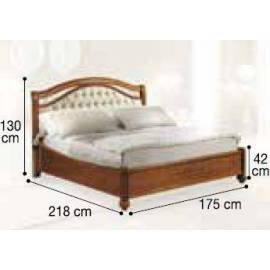 Кровать Siena Capitonné Camelgroup, 160 см, обивка экокожа, без изножья