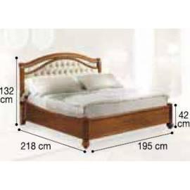Кровать Siena Capitonné Camelgroup, 180 см, обивка экокожа, без изножья