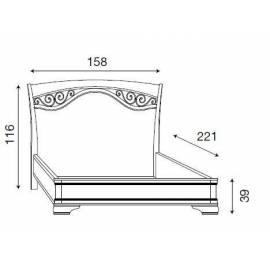 Кровать с ковкой без изножья Palazzo Ducale Laccato Prama 140 см