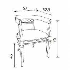 Кресло с тканевой обивкой Palazzo Ducale Ciliegio Prama