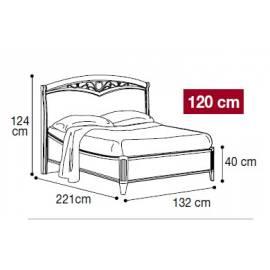 Кровать Nostalgia Camelgroup 120х200, 085LET.30NO