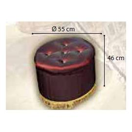 Пуф Siena Camelgroup, ткань бордо