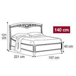 Кровать Nostalgia Camelgroup 140х200, 085LET.32NO