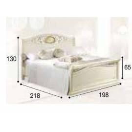 Кровать Siena Avorio Ferro Camelgroup, 180 см с изножьем