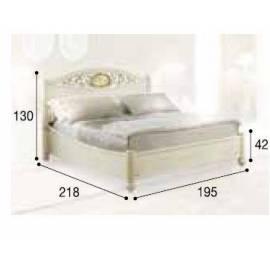Кровать Siena Avorio Ferro Camelgroup, 180 см без изножья