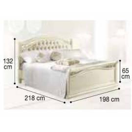 Кровать Siena Avorio Capitonné Camelgroup, 180 см, обивка экокожа с изножьем
