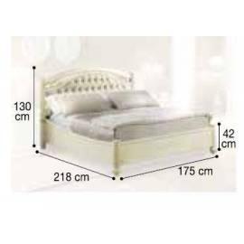 Кровать Siena Avorio Capitonné Camelgroup, 160 см, обивка экокожа, без изножья