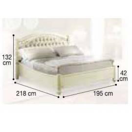 Кровать Siena Avorio Capitonné Camelgroup, 180 см, обивка экокожа, без изножья