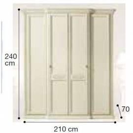 Шкаф 4-дверный Siena Avorio Camelgroup