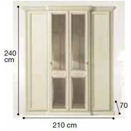 Шкаф 4-дверный Siena Avorio Camelgroup, с зеркалами