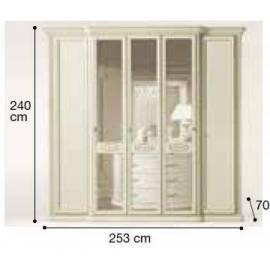 Шкаф 5-дверный Siena Avorio Camelgroup, с зеркалами