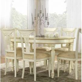 Стол обеденный 160/205 Siena Day Avorio Camelgroup, овальный раскладной