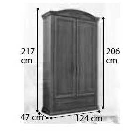 Шкаф 2-дверный Siena Day Avorio Camelgroup, узкий