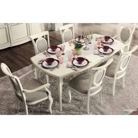 Стол обеденный 200/290 Camelgroup Fantasia Bianco Antico, прямоугольный раскладной