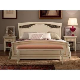 Кровать Palazzo Ducale Laccato Prama 140 см, изголовье с ковкой и изножьем 71BO43LT