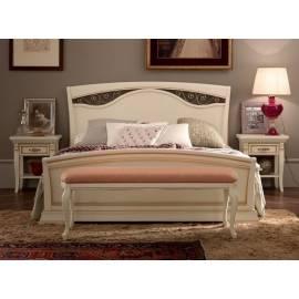 Кровать Palazzo Ducale Laccato Prama 140х200, изголовье с ковкой и изножьем 71BO43LT