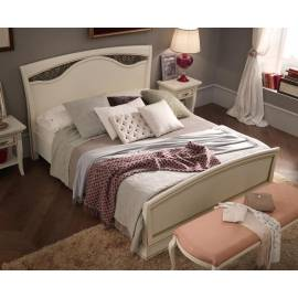 Кровать с изголовьем с ковкой и изножьем Palazzo Ducale Laccato Prama 140 см