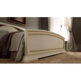 Кровать с изголовьем с ковкой и изножьем Palazzo Ducale Laccato Prama 180 см