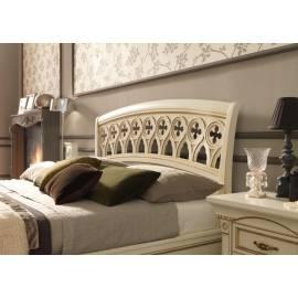 Кровать Palazzo Ducale Laccato Prama 140x200 с резным изголовьем и изножьем 71BO03LT