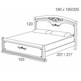 Кровать 180 см Maronese Afrodita прямое изножье