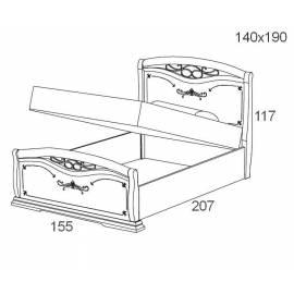 Кровать с подъемником 140 см Maronese Afrodita изножье с ковкой