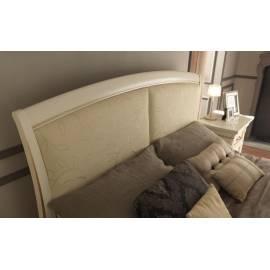 Кровать с кожаным изголовьем и изножьем Palazzo Ducale Laccato Prama 140 см