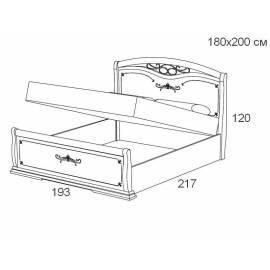 Кровать с подъемником 160 см Maronese Afrodita прямое изножье