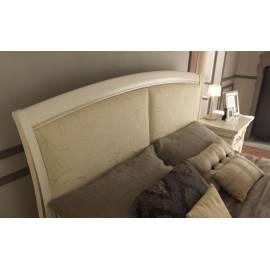 Кровать с кожаным изголовьем и изножьем Palazzo Ducale Laccato Prama 160 см