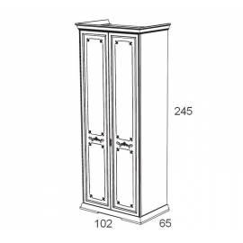 Шкаф 2-х дверный Maronese Afrodita