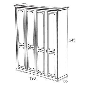 Шкаф 4-х дверный Maronese Afrodita