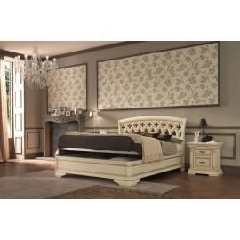 Кровать с резным изголовьем без изножья Palazzo Ducale Laccato Prama 140 см
