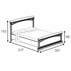 Кровать Treviso frassino Camelgroup 180 см с изножьем