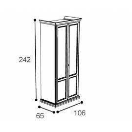 Шкаф 2 дверный Treviso frassino Camelgroup
