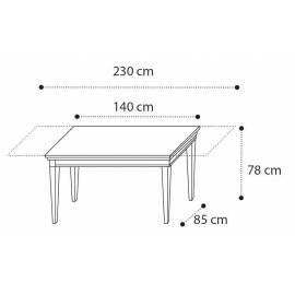 Стол обеденный 140/230 Camelgroup Treviso Frassino, прямоугольный раздвижной