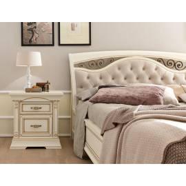 Кровать Palazzo Ducale Laccato Prama 140х200 с мягким изголовьем, ковкой и изножьем 71BO63LT