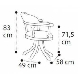 Рабочее кресло Camelgroup Treviso Frassino вращающееся